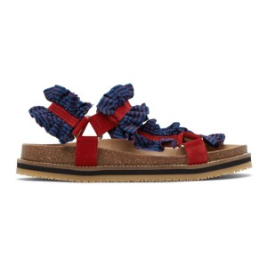 Henrik Vibskov Blue and Red Together Sandals