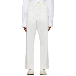 Rika Studios White Ulrika High Waisted Pants