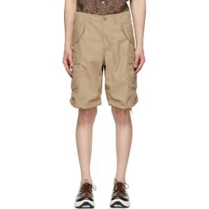 BEAMS PLUS Beige Ripstop 80/3 Shorts