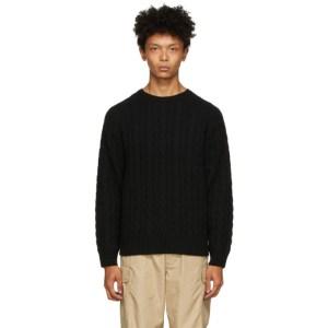 BEAMS PLUS Black 5G Sweater
