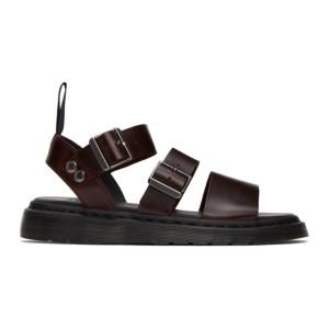 Dr. Martens Burgundy Gryphon Sandals
