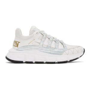 Versace White Trigreca Sneakers
