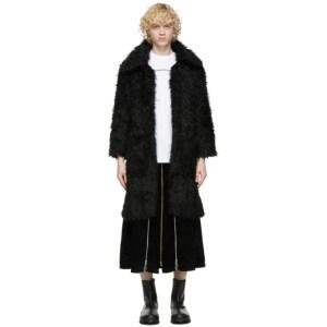 Youths in Balaclava Black Faux Fur Coat