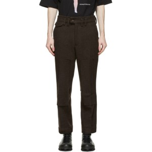 Youths in Balaclava Brown Brushed Wool Trousers