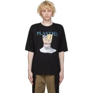 Youths in Balaclava Black Plastic T-Shirt