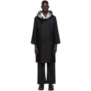 Sasquatchfabrix. Black Three Layer Coat