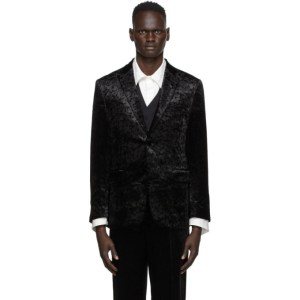 Sasquatchfabrix. Black Velvet Carding Jacket