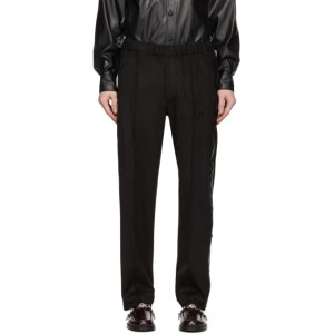 Sasquatchfabrix. Black Faux-Suede Training Trousers