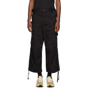 Undercover Black Drawstring Cargo Pants