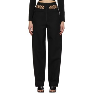 Dion Lee Black Fishnet Tailored Trousers