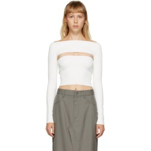Dion Lee White Two-Piece Tube Top