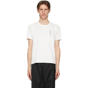 Dion Lee White Embroidered Logo T-Shirt