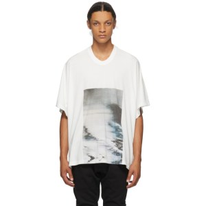 Julius White Cropped Avalanche T-Shirt