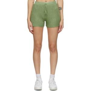 Calle Del Mar Green Ribbed Shorts