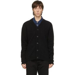 PS by Paul Smith Black Merino Wool Cardigan