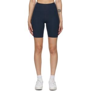 Girlfriend Collective Navy High-Rise Bike Shorts