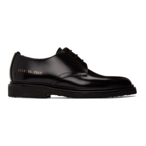 Common Projects Black Standard Derbys