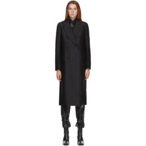 LVIR Black Slim Double-Breasted Coat