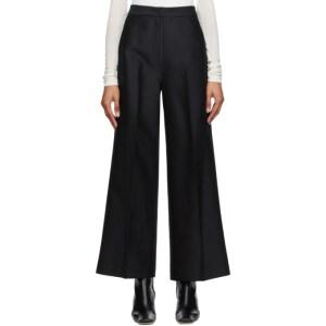 LVIR Black Wide Line Trousers