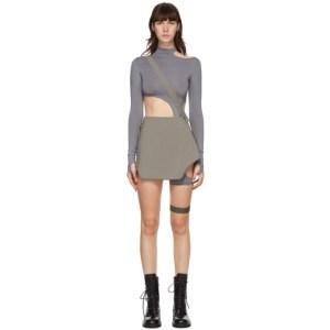 Hyein Seo Grey Garter Miniskirt