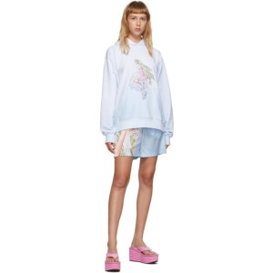 Im Sorry by Petra Collins SSENSE Exclusive Blue and White Graphic Pullover Hoodie