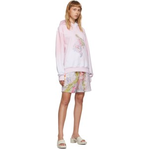 Im Sorry by Petra Collins SSENSE Exclusive Pink and White Graphic Pullover Hoodie