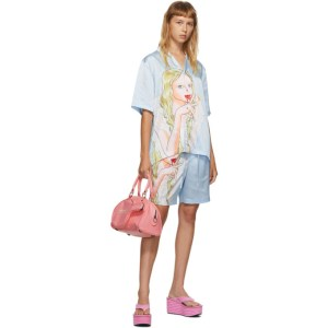 Im Sorry by Petra Collins SSENSE Exclusive Blue Graphic Shirt and Shorts Set