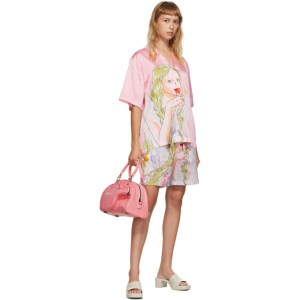 Im Sorry by Petra Collins SSENSE Exclusive Pink Graphic Shirt and Shorts Set