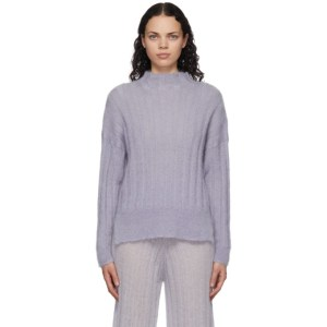 RUS Purple Mohair Makura Sweater