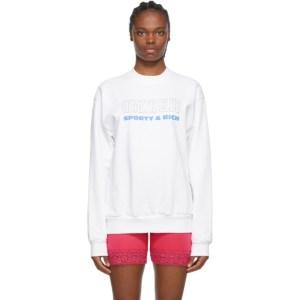 Sporty and Rich White Health Club Sweatshirt