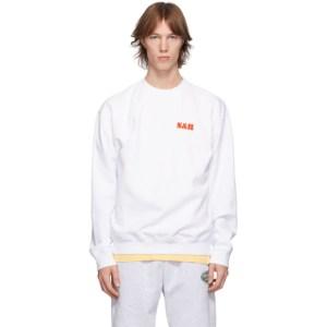 Sporty and Rich White SandR Sun Sweatshirt
