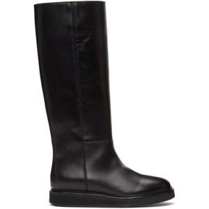 Legres Black Wedge Riding Boots