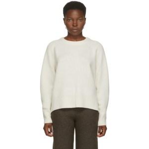 arch4 White Cashmere Bredin Crewneck Sweater