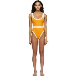 Medina Swimwear Orange Volley One-Piece Swimsuit