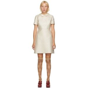 Gucci Beige Lame GG Dress