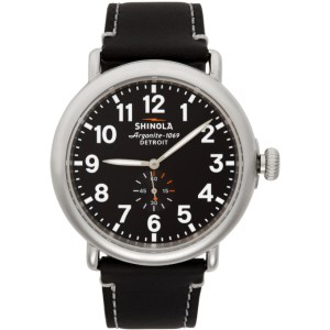 Shinola Silver and Black The Runwell 47mm Watch