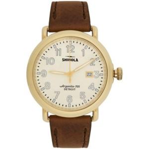 Shinola Gold and Off-White The Runwell 41mm Watch