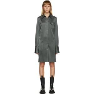 Peter Do SSENSE Exclusive Grey Long Shirt Dress