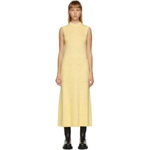 Peter Do SSENSE Exclusive Yellow Knit Sleeveless Dress