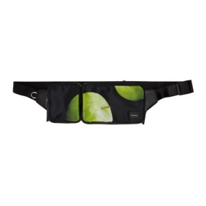 Paul Smith 50th Anniversary Black and Green Apple Waist Pouch