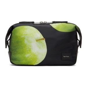 Paul Smith 50th Anniversary Black and Green Apple Wash Pouch