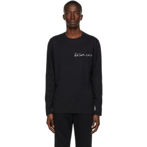 Paul Smith 50th Anniversary Black Apple Long Sleeve T-Shirt