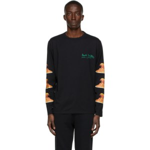 Paul Smith 50th Anniversary Black Spaghetti Long Sleeve T-Shirt