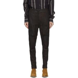 FREI-MUT Brown Leather Chernikov Trousers