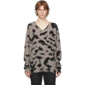 FREI-MUT Beige Wool Leger V-Neck Sweater