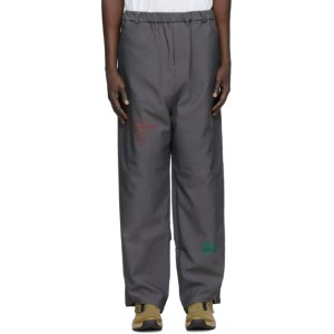 NAMESAKE Grey Embroidered Trousers