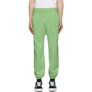 Awake NY Green Embroidered Logo Lounge Pants