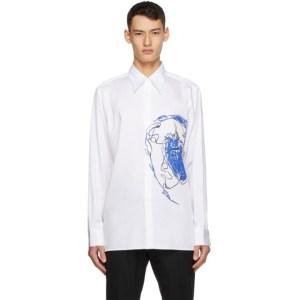 Sean Suen White Print Shirt