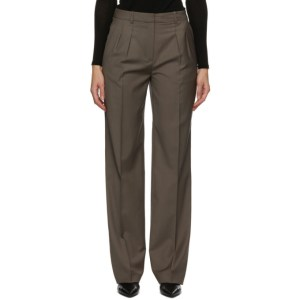 Loulou Studio Grey Pleated Trousers