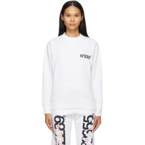 The DSA SSENSE Exclusive White Fleece NO2093 Sweatshirt